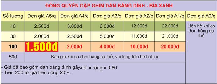 Đóng sách dập ghim dán băng dính giá rẻ lấy nay tại Hà Nội