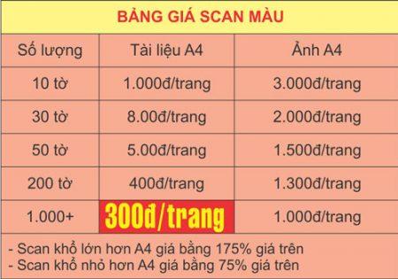 Giá dịch vụ scan tài liệu tại Hà Nội