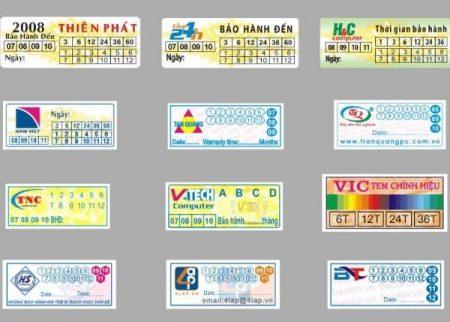 In tem bảo hành