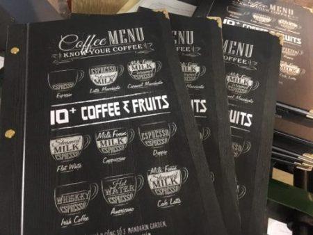 mẫu menu cà phê đẹp