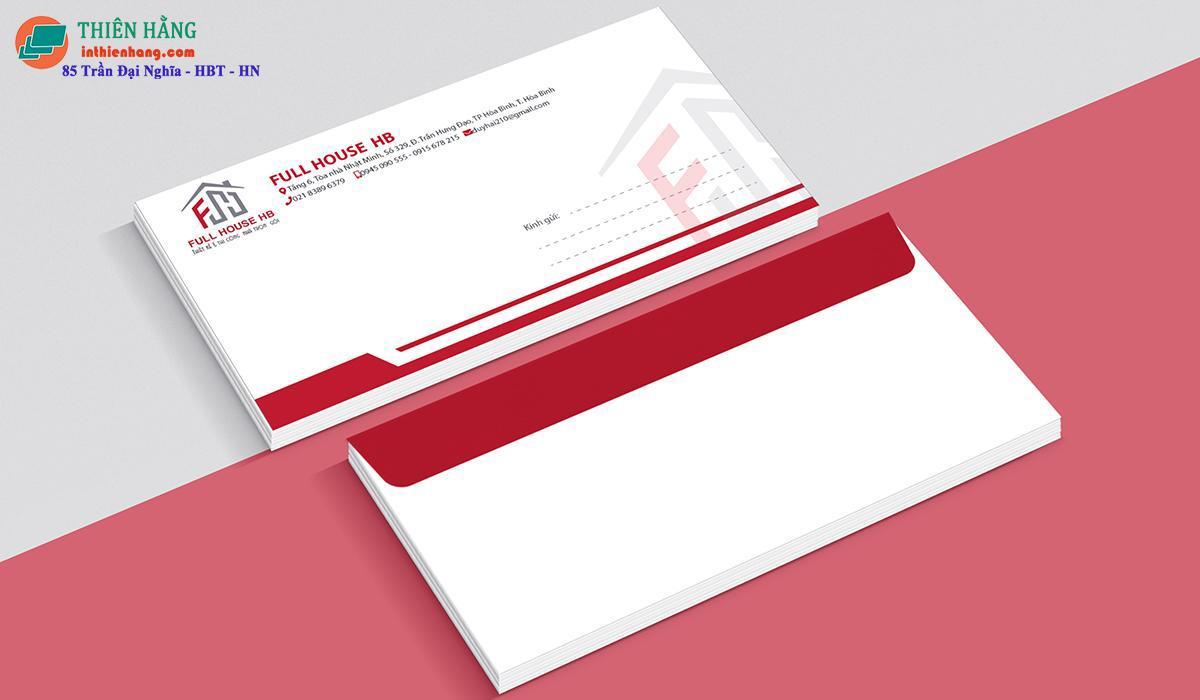 Mẫu phong bì thư cho doanh nghiệp