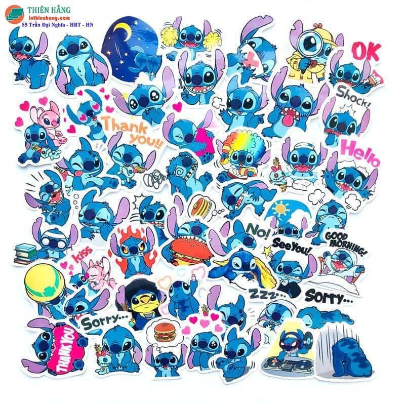 Mẫu sticker hoạt hình