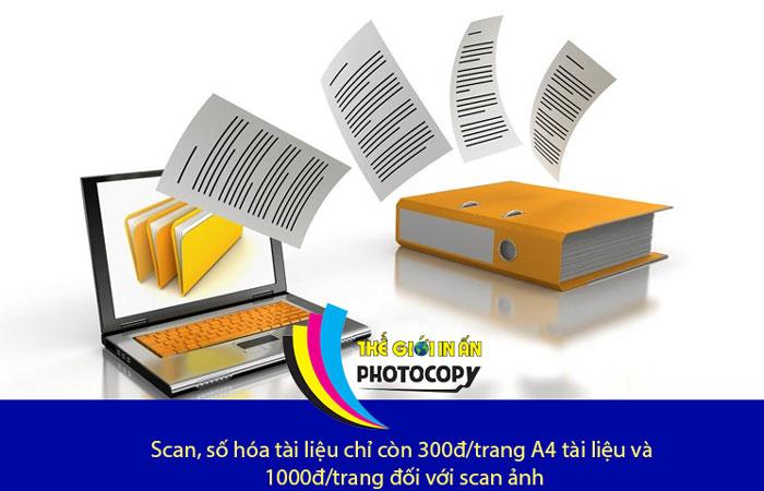 Tham khảo bảng giá scan tài liệu chuẩn nhất hiện nay tại Hà Nội